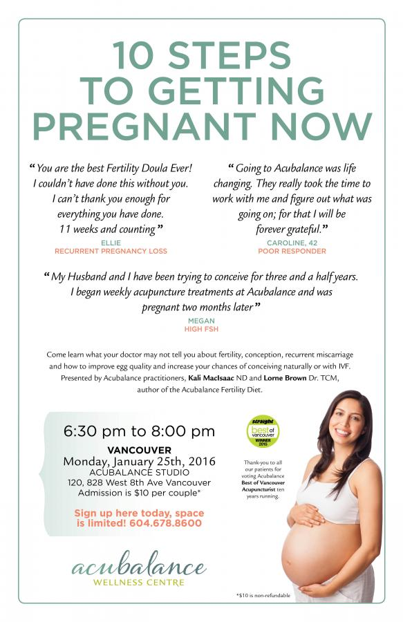 10 Steps to Getting Pregnant Now | Acubalance Wellness Centre